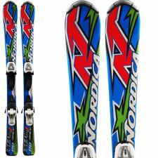 Ski occasion enfant NORDICA Team Race Junior Fastrak + Fixations DESTOCKAGE skis