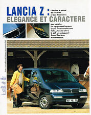 PUBLICITE ADVERTISING 104  1994   LANCIA Z  monospace grand tourisme