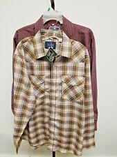 CLASSIC WESTERN Pearl Snap LS Western Shirt NWT + free bonus shirt SHIPS FREE