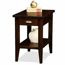 Leick Furniture Laurent Drawer Chairside Table Chocolate Cherry Finish 10506 New