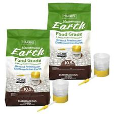Harris 10.5 lbs. Diatomaceous Earth Food Grade 100% with 21 lbs. Powder Duster