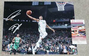 SMUDGED Giannis Antetokounmpo Signed Bucks 11x14 photo + JSA witness COA WPP926