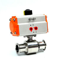 1-1/2'' Sanitary Pneumatic Ball Valve Tri-Clamp Quick Ferrule SS304 2-Way DN38MM