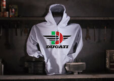 Ducati Motorcycle Hoodie - Hooded Sweat Shirt - Color: Ash - Size: Medium 44''