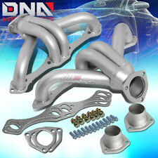 FOR CHEVY SBC SMALL BLOCK HUGGER SHORTY STAINLESS HEADER MANIFOLD/EXHAUST SILVER