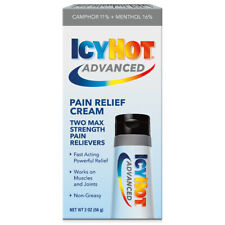 Icy Hot ADVANCED RELIEF • PAIN RELIEVING CREAM Extended Relief Formula POWERFUL