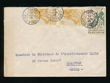 FRENCH IVORY COAST 1949 AOF SOLDIERS FRANKING...TOUBA CANCELS