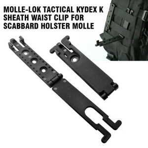 Molle-Lok Kydex K Sheath Clip For Scabbard Holster Tactical Molle Backpack