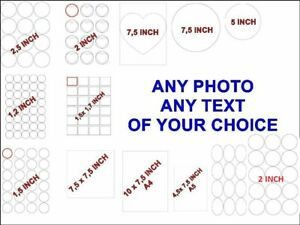 YOUR OWN  PRE CUT EDIBLE PHOTO cake topper  -Icing or Wafer Paper
