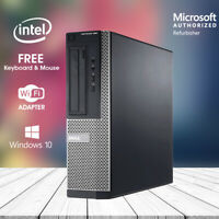 Dell Desktop Computer 390 RAM HDD Fast Quad Core i5 Windows 10 Pro PC WiFi HDMI