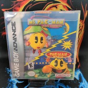 Ms Pacman Maze Madness Nintendo Game Boy Advance GBA CIB Box Protector Inc