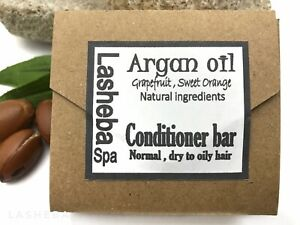 NATURAL SOLID HAIR CONDITIONING BAR WITH ARGAN OIL ,SHEA BUTTER -HYDRATE-REPAIR
