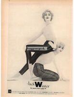 1959 JACK WINTER Women's Pants Striped Plaid VTG PRINT AD