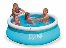 Intex 6ft x 20in Easy Set Swimming Pool Paddling Inflatable Outdoor Pool Kids