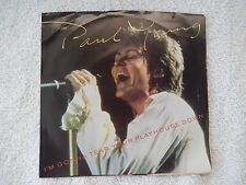 """Paul Young """"I'm Gonna Tear Your Playhouse Down/Broken Man"""" PS 45 RPM Record"""