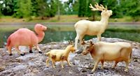 Celluloid Animals Camel Reindeer Goat Bull Lot (4) Toys / Display Figures VTG