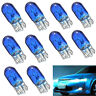 10x T10 W5W 501 5W Halogen Car Dashboard Interior Wedge Side Light Bulb Blue 12V