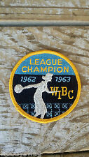 Vintage League Champion WIBC 1962 1963 Patch Bowling Sew On