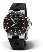 Oris Aquis Date Diving Black Strap Mens Watch 01 733 7653 4128-07 4 26 34EB
