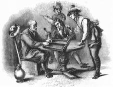 GAMES. Tric trac(Teniers) 1845 old antique vintage print picture