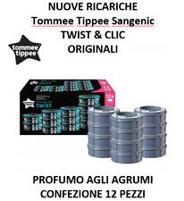 SANGENIC TOMMEE TIPPEE 12 RICARICHE TWIST & CLIC - TEC - ORIGINALE NUOVO AGRUMI
