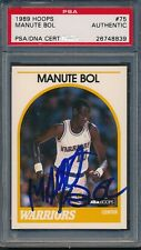 1989/90 Hoops #75 Manute Bol PSA/DNA Certified Authentic Auto *8839