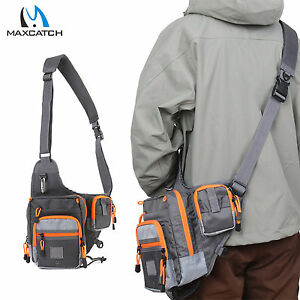 Freshwater Fishing Lure Tackle Bag Pack BackPack Crossbody Sling Bag