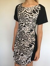 NWT MinkPink Fantastic Black & White Animal Print Dress Size S 10