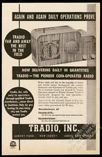 1947 Tradio coin-op radio photo Asbury Park New Jersey vintage trade ad