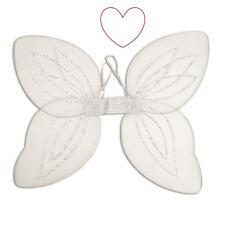 Adult Angel Fairy Wings Halo Fancy Dress Butterfly Nativity White Silver