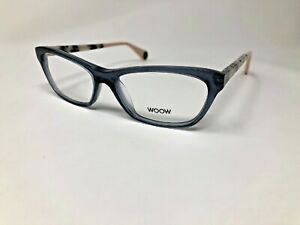 "WOOW ""WANT YOU 2"" Eyeglasses Frame Italy Col4012 52-14-143 Blue Crystal BF14"