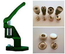 Druckknopfpresse + 180 Druckknöpfe TYPE 54 / 12,5mm silber + Werkzeug für Textil