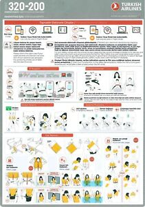 Airbus A320-200 Turkish Airlines safety card