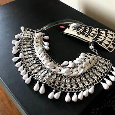 By Marlene Birger:Bikum Bib Necklace White Used