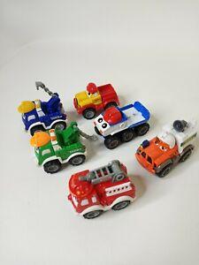 "Lot of 6 Tonka 2 1/2""  Lil Chuck & Friends Maisto Trucks 2000-2004 Hasbro Used"