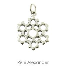 925 Sterling Silver Snowflake Charm American Made