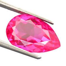 6.85 CTS 100% AAA+ LITE SWEET PINK SAPPHIRE (Lab Created) Pear rose saphir