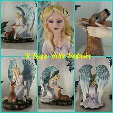 ANGELO ANGEL FAIRY FEES ELFEN FATA CON CERBIATTO SEDUTI SU PRATO NO LES ALPES