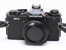 OLYMPUS OM-3 35MM FILM CAMERA BODY - BLACK - RARE