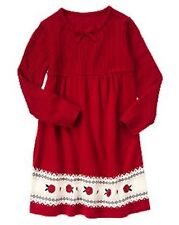 NWT New Crazy 8 Girl Rose Fair Isle Sweater Dress S 5-6