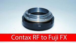 Contax RF KIEV RF to Fuji FX adapter with focusing part CRF FX helicoid Fujifilm