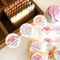 54 pcs/lot Hand made Flower Sticker Labels food Seals for Wedding party gift LE