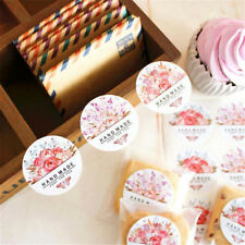 54 pcs/lot Hand made Flower Sticker Labels food Seals for Wedding party gift QY-