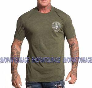 Affliction Chris Kyle Warrior Spirit A18987 New Graphic Green T-shirt for Men