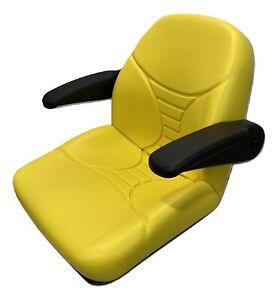 John Deere Yellow High Back Seat - EZTRAK AM140435 - Fits Z335E Z225 Z425 Z445