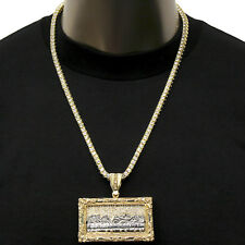 Mens Gold Plated Hip-Hop XL Last Supper w/ 24