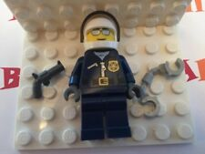 1 NEW LEGO Motorcycle Police Officer with Handcuffs, Revolver, Helm, Sun Glasses