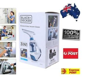 Black & Decker 3-in-1 Spray/Wipe/Vac Lithium Window & Glass Vacuum Cleaner POST
