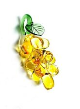 Yellow Gold Glass Grapes for Chandeliers, 65mm Murano Glass Fruit Ornaments