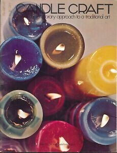 Candle Craft Booklet 1971 Fillbrandt Basics Molds Sand Ice Cube Hand Sculptured